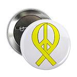 Yellow Peace Ribbon Button