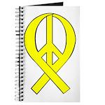 Yellow Peace Ribbon Journal
