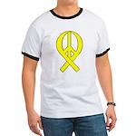 Yellow Peace Ribbon Ringer T