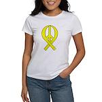 Yellow Peace Ribbon Women's T-Shirt