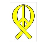 Yellow Peace Ribbon Postcards (Package of 8)