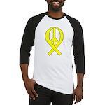 Yellow Peace Ribbon Baseball Jersey