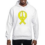 Yellow Peace Ribbon Hooded Sweatshirt