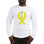 Yellow Peace Ribbon Long Sleeve T-Shirt