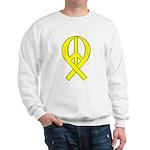 Yellow Peace Ribbon Sweatshirt
