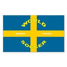 Sweden World Cup 2006 Soccer Rectangle Decal