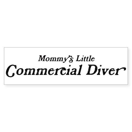 Mommys Little Commercial Dive Bumper Sticker