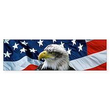 Bald Eagle American Flag Bumper Bumper Sticker