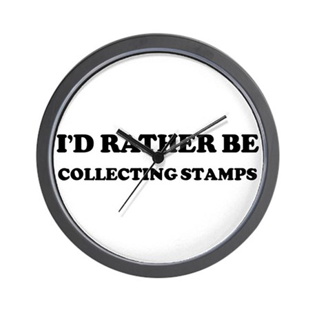 Rather be Collecting Stamps Wall Clock