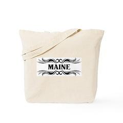 Tribal Tattoo Maine Tote Bag