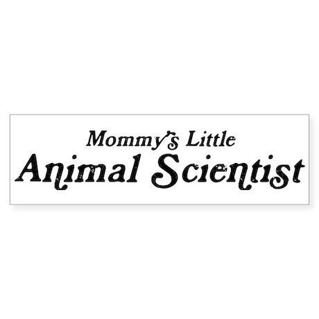 Mommys Little Animal Scientis Bumper Sticker
