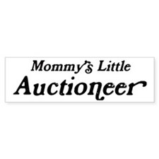 Mommys Little Auctioneer Bumper Bumper Sticker