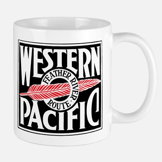 Feather River Route train logo Mugs