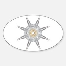 The Dharma Wheel Oval Decal