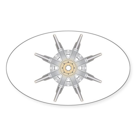The Dharma Wheel Oval Sticker