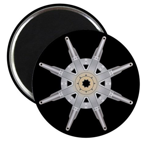 The Dharma Wheel Magnet