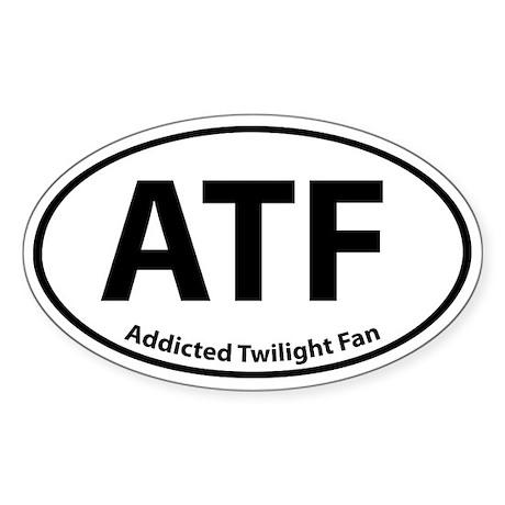 Addicted Twilight Fan Stickers Oval Sticker