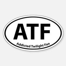 Addicted Twilight Fan Stickerss Oval Stickers