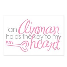 Key to my heart Postcards (Package of 8)