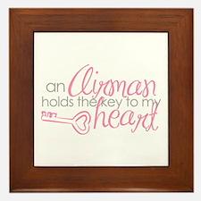Key to my heart Framed Tile