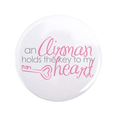 """Key to my heart 3.5"""" Button"""