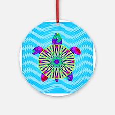 Colorful Sea Turtle Ornament (Round)