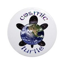 Cosmic Turtle Ornament (Round)
