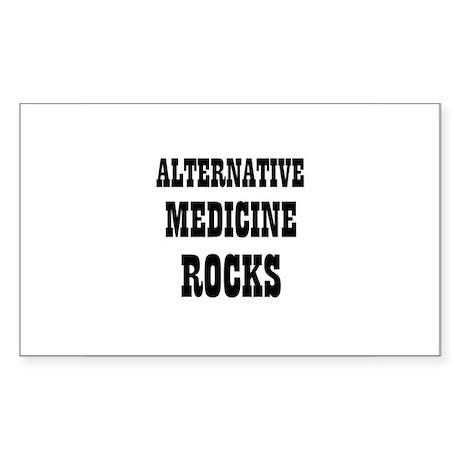 ALTERNATIVE MEDICINE ROCKS Rectangle Sticker