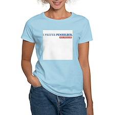 """""""I prefer penholder"""", w/16-logo on back (W:Pink-T)"""