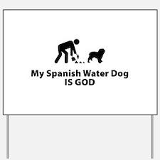 Spanish Water Dog Yard Sign