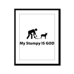 Stumpy Tail Cattle Dog Framed Panel Print