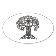 The Reading Tree Oval Decal