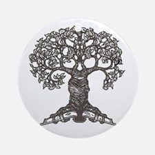 The Reading Tree Ornament (Round)
