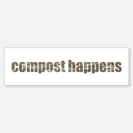 Compost Happens Sticker (Bumper)