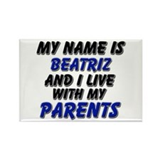 my name is beatriz and I live with my parents Rect
