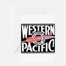 Feather River Route train logo Greeting Cards