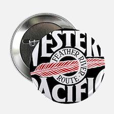 "Feather River Route train logo 2.25"" Button"