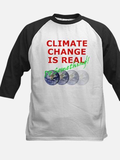 Global Warming Climate Change Kids Baseball Jersey