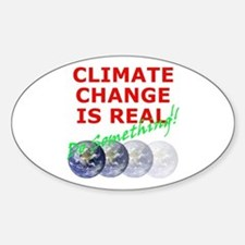 Global Warming Climate Change Oval Decal