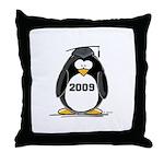 2009 Graduation Penguin Throw Pillow