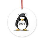 2009 Graduation Penguin Ornament (Round)