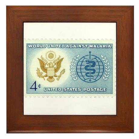 Malaria Stamp Framed Tile