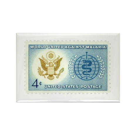 Malaria Stamp Rectangle Magnet (10 pack)