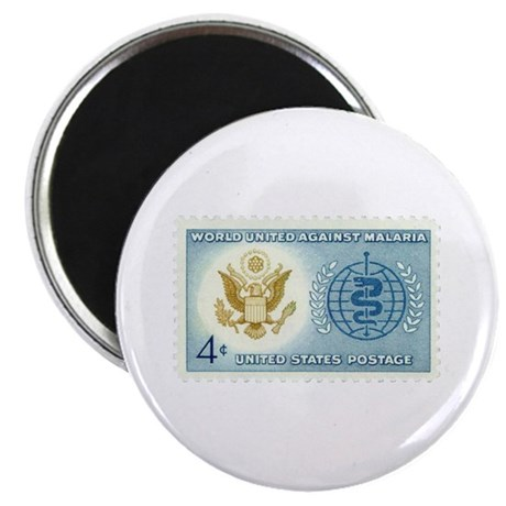 "Malaria Stamp 2.25"" Magnet (10 pack)"