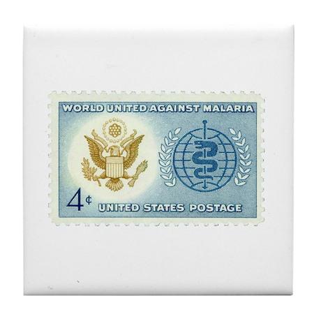 Malaria Stamp Tile Coaster