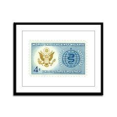 Malaria Stamp Framed Panel Print