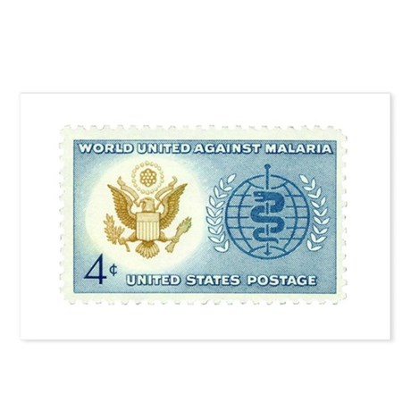 Malaria Stamp Postcards (Package of 8)
