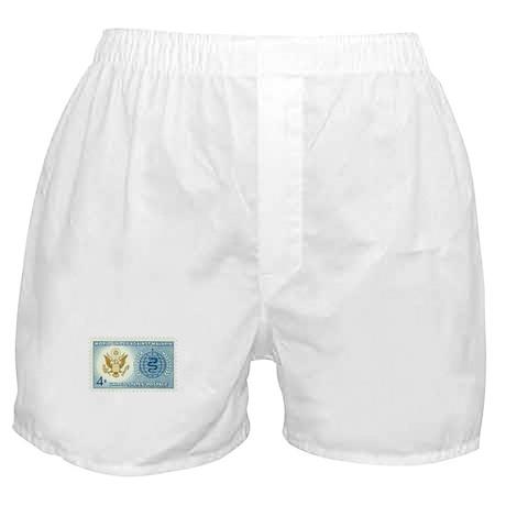 Malaria Stamp Boxer Shorts
