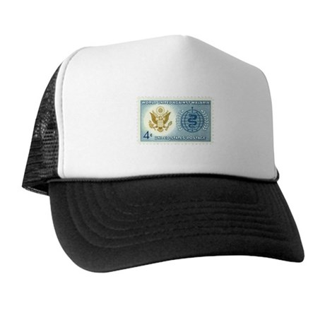 Malaria Stamp Trucker Hat