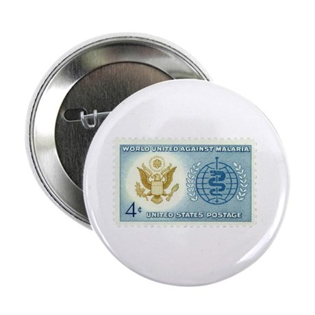 """Malaria Stamp 2.25"""" Button (100 pack)"""